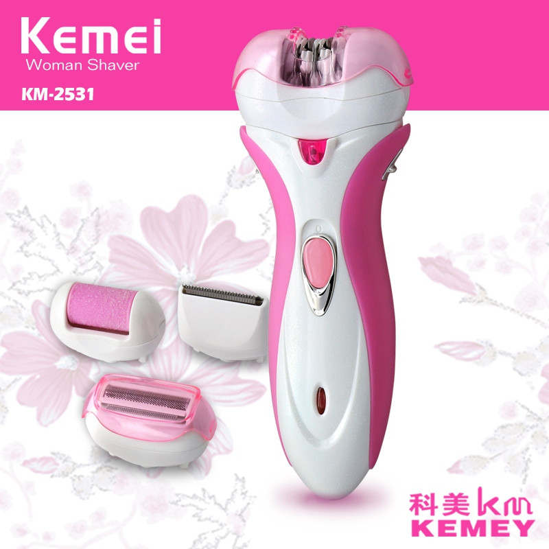 Kemei 4 in 1 Lady Shaver Electric Epilator Female Women's Personal Care for Full Body Razor Hair Removal Machine Gifts KM-2531 retro industry country vintage linen glass ball pendant lights creative personality restaurant bar cafe linen pendant lamp zzp