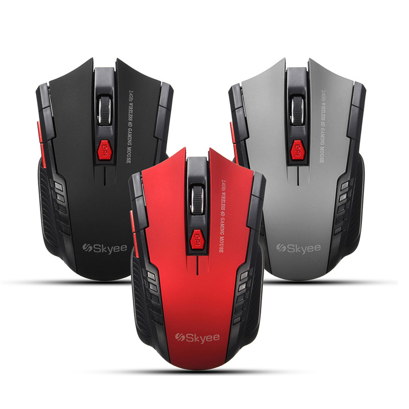 2.4Ghz Mini Portable Wireless Mouse 2000DPI Adjustable Professional USB Optical Gaming M ...