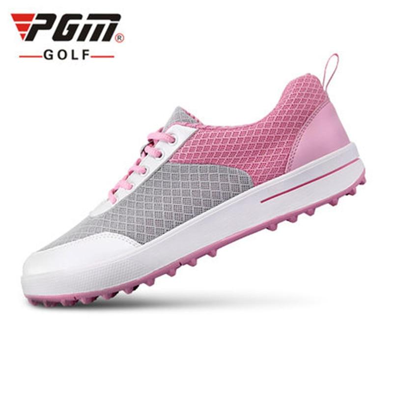 2018 Women Rubber Sale Limited Summer New! Pgm Golf Female Models Ultra-light Breathable Mesh Shoes Design Fixed Staple 3d Groo цена 2017