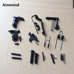 Enhanced AR15 dolna zestaw części 223/5.56 wiosna wymiana zestawu z selector bezpieczeństwa magazyn catch w Akcesoria do broni myśliwskiej od Sport i rozrywka na
