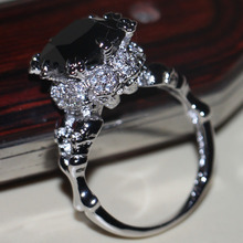 Choucong Victoria Wieck Vintage Jewelry 10Kt White Gold Filled Black AAA CZ Simulated stones Party Wedding