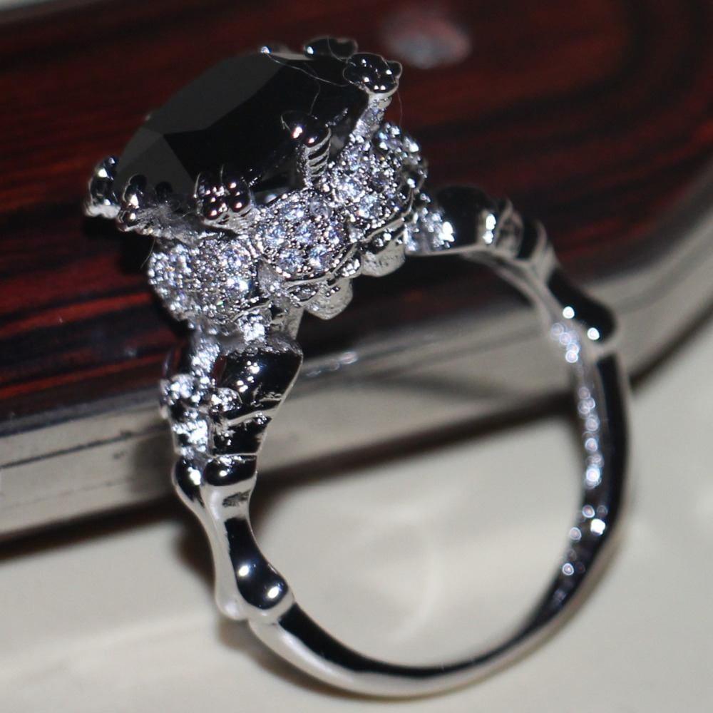 Choucong Victoria Wieck Vintage font b Jewelry b font 10Kt White Gold Filled Black AAA CZ