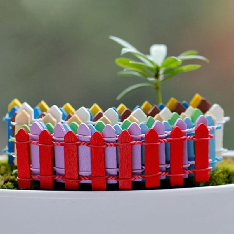 colores mini valla barrera de madera miniaturas miniatura planta en maceta musgo paisaje micro adornos