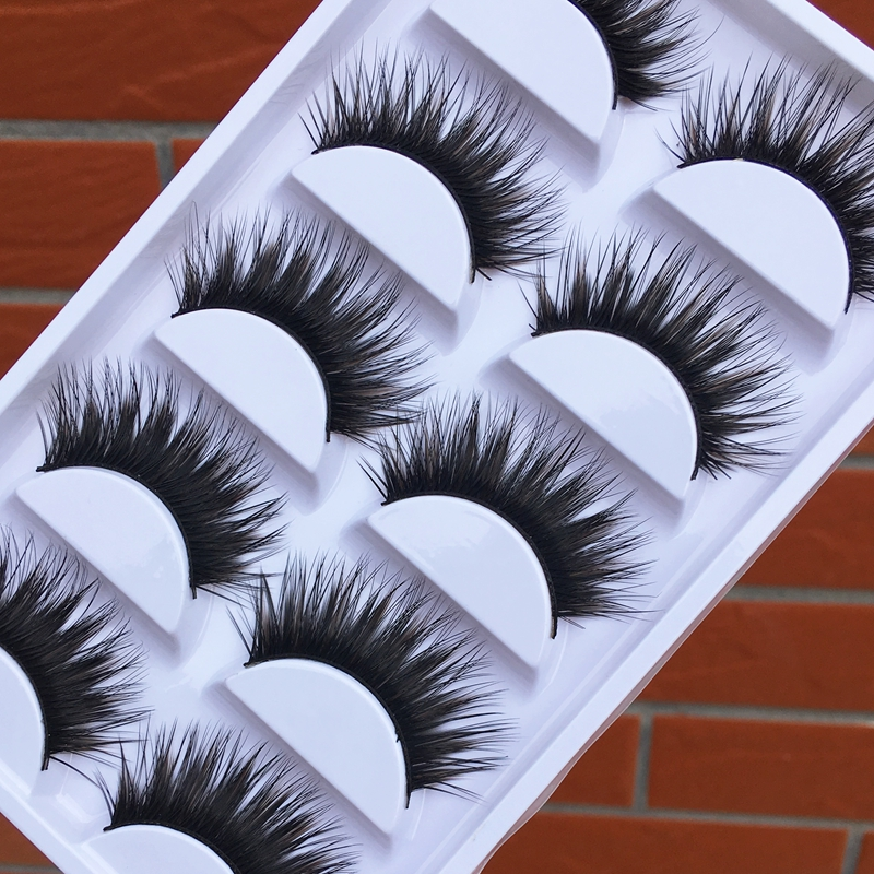 New Brown Black Cross False Eyelashes Soft Curl Exaggerated Stage Thick Eye Lashes Fashi ...