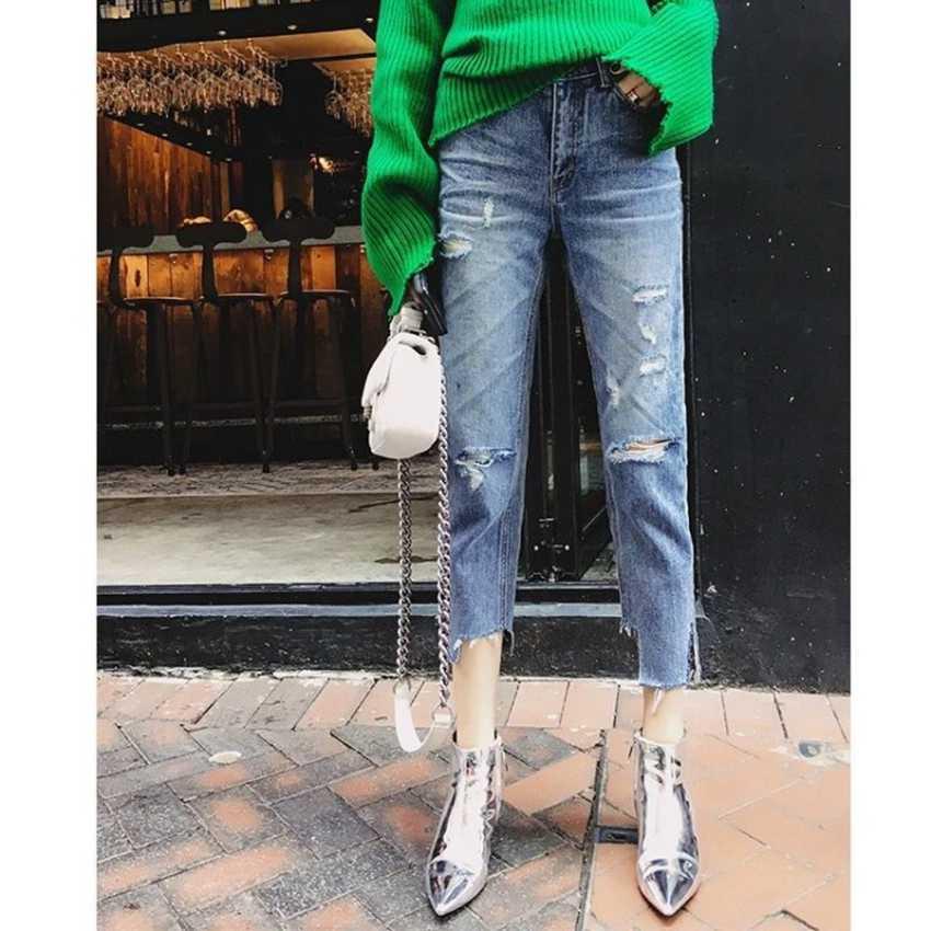 เงินสิทธิบัตรหนังข้อเท้ารองเท้าบู๊ต 10.5 เซนติเมตรรองเท้าส้นสูงรองเท้าผู้หญิงฤดูหนาวรองเท้าผู้หญิงชี้นิ้วเท้า Botas ผู้หญิงฤดูใบไม้ผลิฤดูใบไม้ร่วงรองเท้า