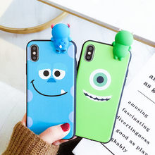 Nova 4E 3D Monsters Case, Cartoon Sulley soft back cover for Huawei P10 plus / P20 pro/P30 /P30 pro / Honor 8X case(China)