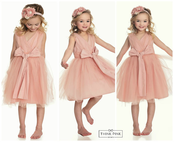 A-Line Flower Girls Dresses For Wedding Gowns Tulle Beauty Pageant Dresses for Kids Fashion  Dresses Holy Communion