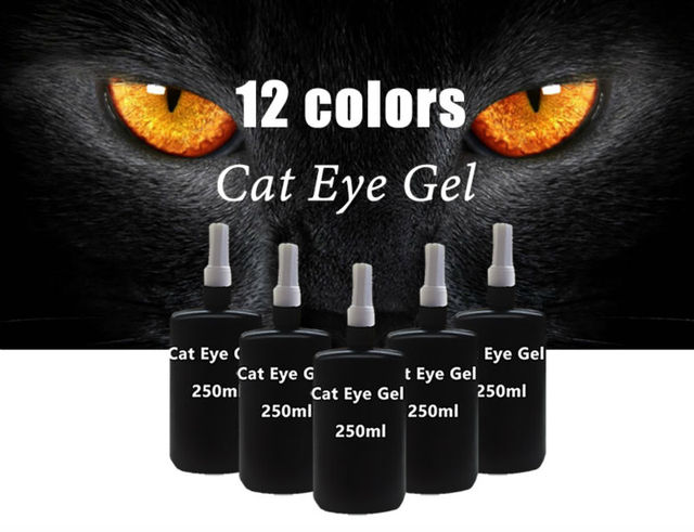 Sunrim 3D Cat Eyes UV Gel Polish 250ml Soak Off led uv gel nail polish Magnetic Gel Lacquer Long-Lasting 12 Colors For Choose