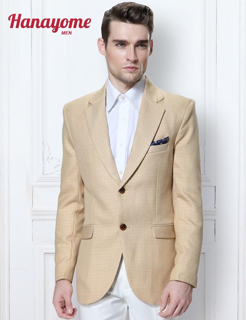 Hombres modernos Trajes de Boda Traje de Marca Para Hombre 2016 Amarillo Traje Casual 2 Unidades