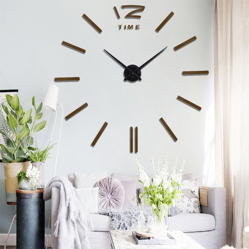 Digital Wall Clock Hot Sale Sticker Wall Clock Large