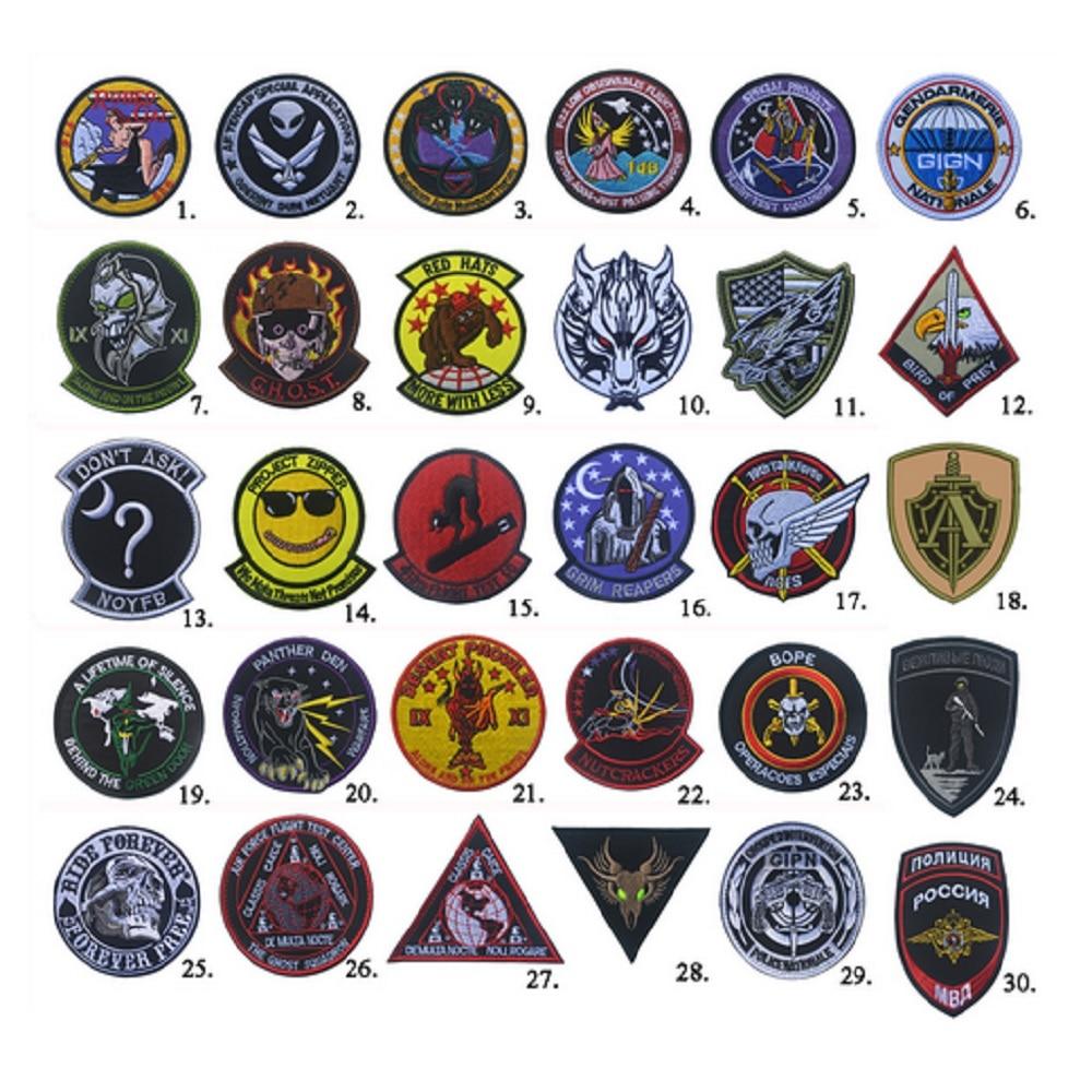 10 pz / lotto Ricami 3D patch Loop e gancio Grim Reapers / rodeo gal - Arti, mestieri e cucito