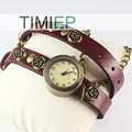 New Fashion Lady's Clock Women's Wrist Watches Vintage Design Red