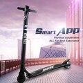 2017 36 v et mini inteligente totalmente físico botija duplo freio scooter elétrico de fibra de carbono suspensão de longo alcance 25-40 km