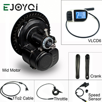 EJOYQI Tongsheng 36V 48V 250W/350W/500W TSDZ2 electric bicycle central mid motor torque sensor VLCD6 display TSDZ2 motor
