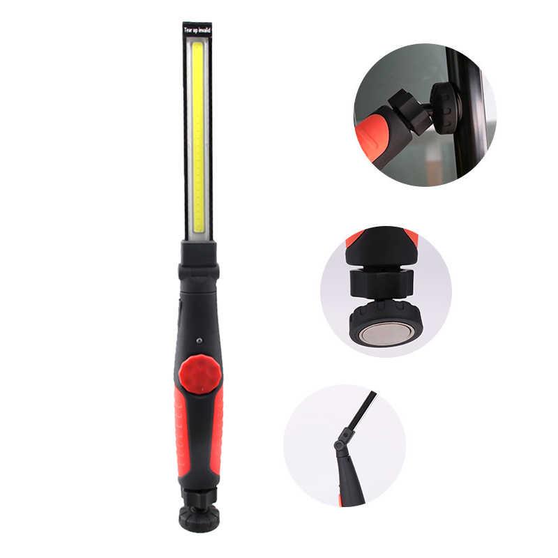 Перезаряжаемые USB Рабочий светодио дный свет светодиодный фонарик автомобилей COB Магнитная ремонт лампы кемпинг 410 люмен многофункцион