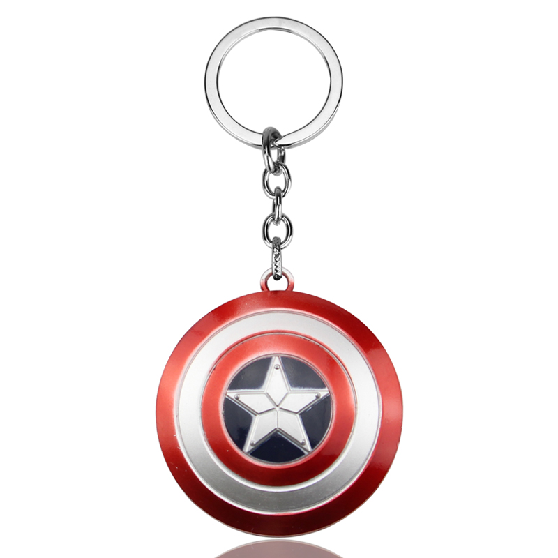 Movie Avengers Infinity War Character Captain America Shield Alloy Keychain Action Figure Keyring Key Chain For MenBoy Gift