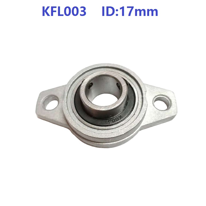 50pcs lot KFL003 17mm Bore Diameter Zinc Alloy Bearing Units 17 mm Flange Pillow Block Bearing