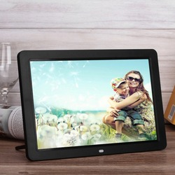 Multifunctional Digital Picture Frame With Full Featured Wireless Remote 12 Inch LCD Screen Display Built-in Speaker
