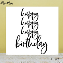 Happy Birthday Transparent Silicone Seals for DIY Scrapbooking/Photo Album Decorative Card Making Clear Stamps Supplies big tree bicycle chair bird transparent clear stamp diy silicone seals scrapbooking card making photo album decoration supplies