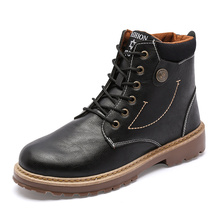 цены Brand Hot Newest Keep Warm Winter Boots Men High Quality Pu Leather Wear Resisting Casual Shoes Working Fashion Men Boots A3