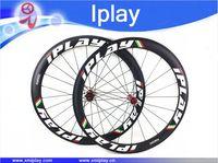 Iplay 탄소 바퀴 50mm clincher 도로 자전거 r36 허브 700c 바퀴 탄소 림 clincher 50mm 탄소 섬유 23mm 폭 바퀴