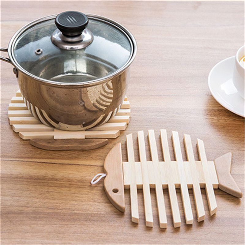 Wooden Dining Table Thermal Insulation Mat Placemats Pot Cup Mat Heat Insulation Kitchen Tool Decoration Home Accessories