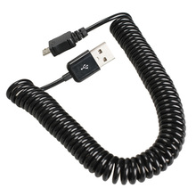 usb adapter cable spiral coiled usb 2 0 a male to micro usb b 5pin adaptor spring cable extended 3m black Spiral Coiled USB 2.0 A Male to Micro USB B 5Pin Adaptor Spring Cable -39