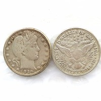 90 Silver 1914 Barber Quarter Dollars Retail Wholesale USA Copy Coins