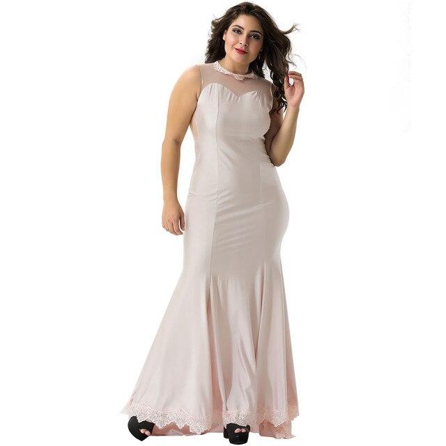 Vs1004 Women Cute Floral Apricot Black Long Lace Trim Bodycon Dress