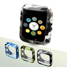 Camouflage watch case for apple protective cover 38mm protector 42mm iwatch series 3 2 1 accessories