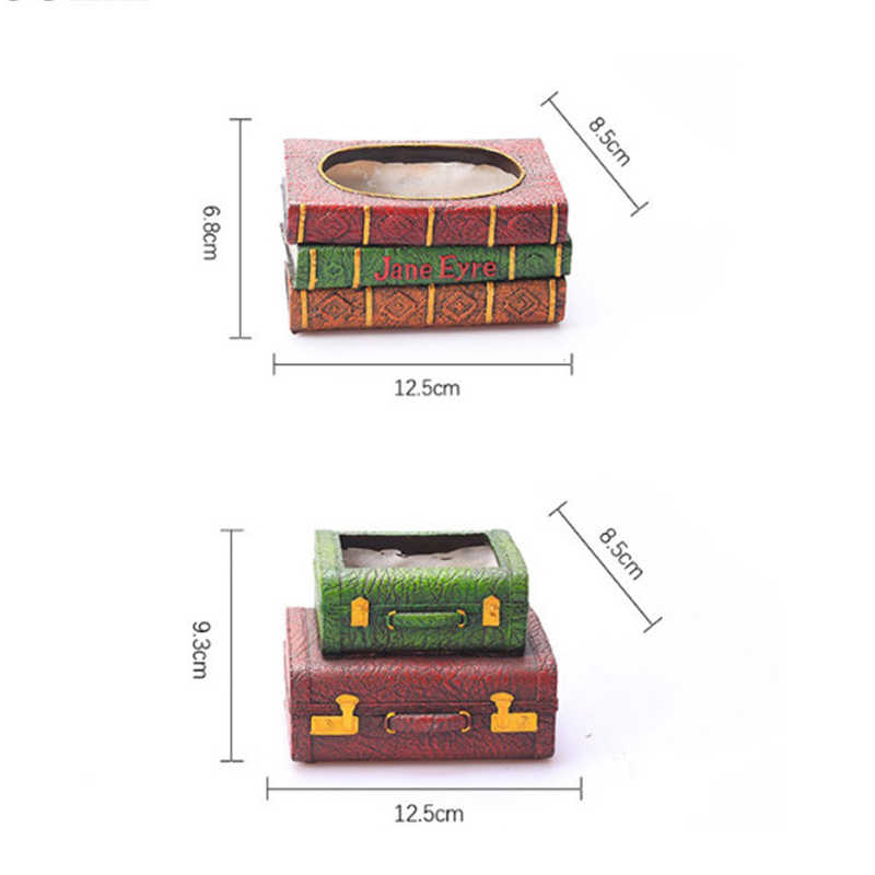 YXYT 2Pcs/set Resin Flowerpot Book Succulent Plants Pots Suitcase Flower  Pot Home Garden Decorative Bonsai cactus Planter maceta
