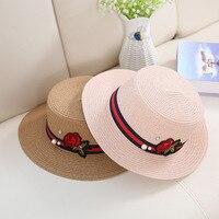 גאות כובע שמש כובעי קיץ גברתי גג שטוח עלה כובע קש כובע שמש זמן פנאי אופנה בחוץ