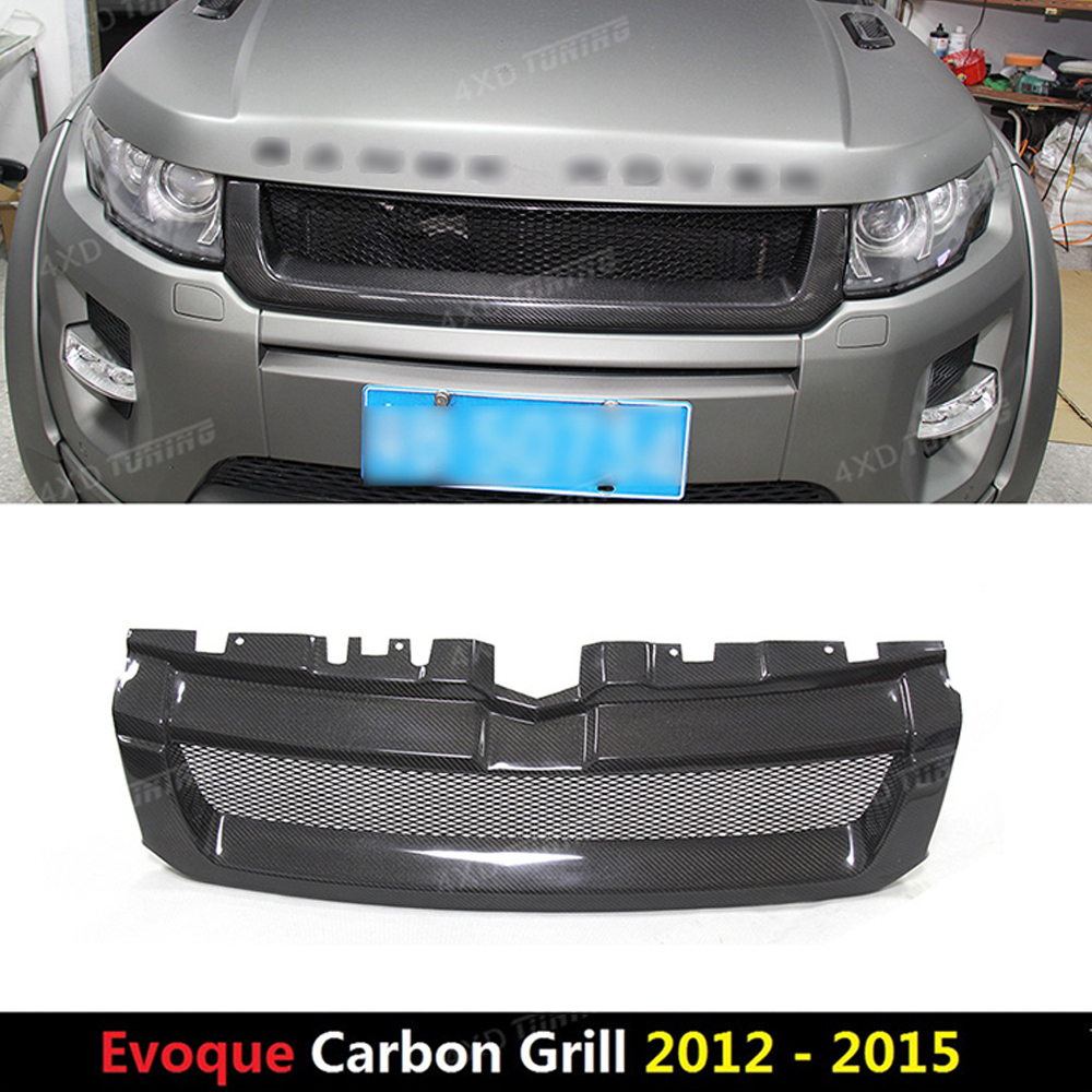 For Land Rover Range Rover Evoque Carbon Front Grille Trim