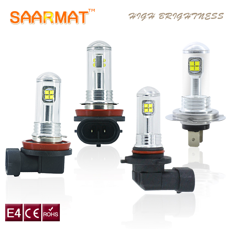 SAARMAT 2x LED 9005/HB3 H7 H11 P13W H8 H9 9006/HB4 1156 80W car bulb light With CREE chips 1500lm Fog Lamps DRL Headlights White 2x led h11 h8 h9 h11 no error decoder 80w with cree chip car bulb light fog lamps drl headlights for bmw 3 e90 e92 x5 2002 2010