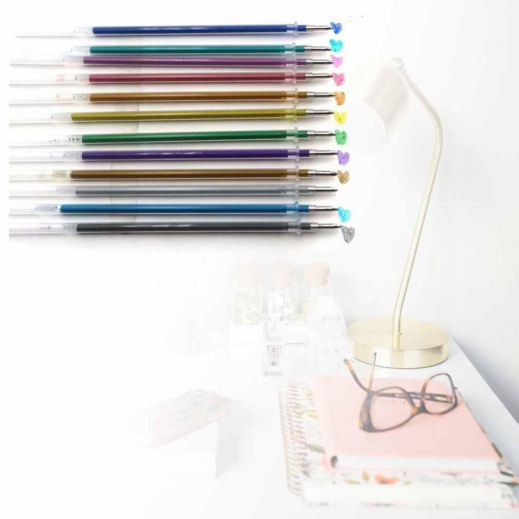 48 ชิ้น/เซ็ต 48 สีเติมMultiสีจิตรกรรมเจลหมึกปากกาลูกลื่นเติมRodสำหรับจับโรงเรียนเครื่องเขียน