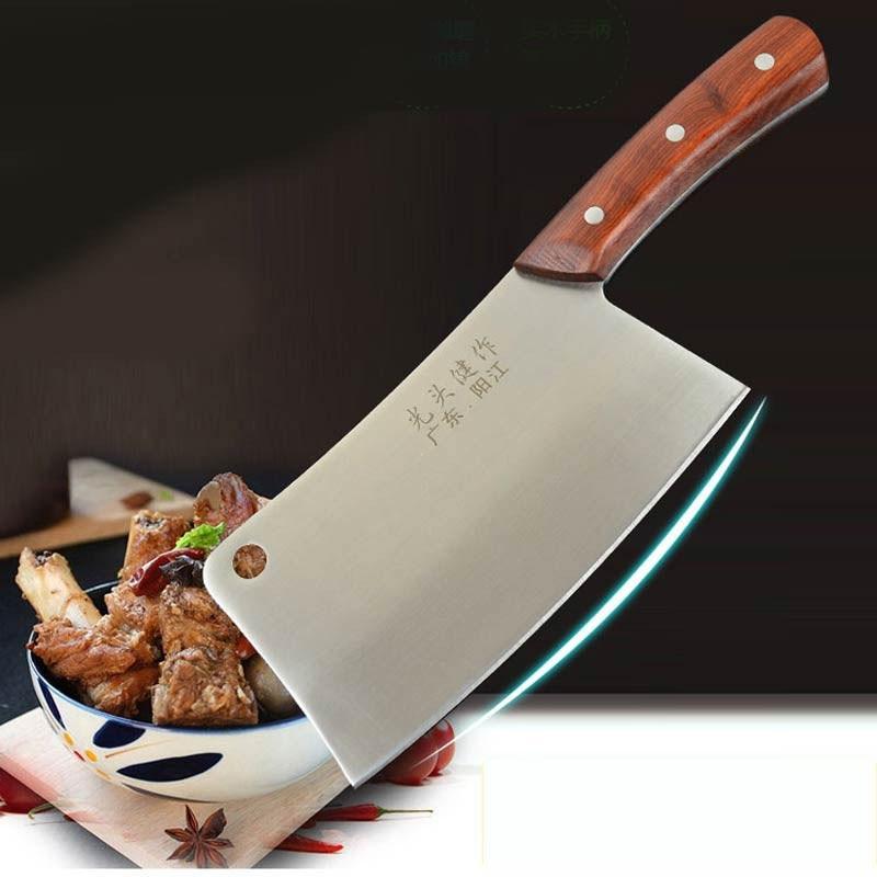 Ev ve Bahçe'ten Mutfak Bıçakları'de Ücretsiz Kargo 720g Kalınlaşmak Dövme Çelik Şef Mutfak Bıçağı Profesyonel Doğrayın Kemik Bıçaklar Sert Gıda Et Dilimleme kasap bıçağı'da  Grup 1