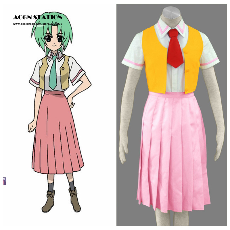 2018 Free Shipping Cosplay When They Cry Anime Mion Sonozaki Halloween Cosplay Costume Customize for plus size For Adult and Kid