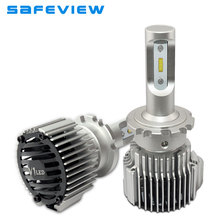 Safeview Car d2s d2r auto led headlight Bulbs 12V 72W D1S D3S D4S 6000K White Lighting 8000LM Car Light Assembly auto front lamp(China)