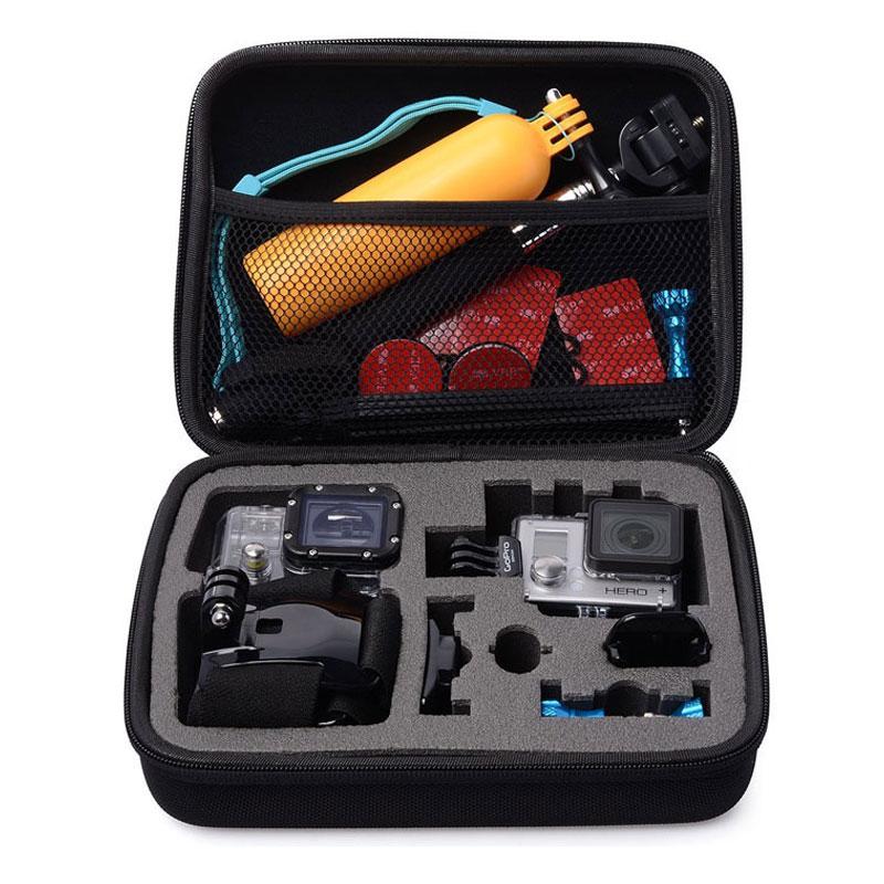 Black Medium Size Travel Storage Collection Bag Case For GoPro Hero 4 3 3 2 1