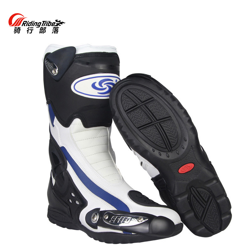 Professional Men s Speed Motorcycle Boots BIKERS Racing motocross boots motobotinki motorcycle shoes motorboats B1002