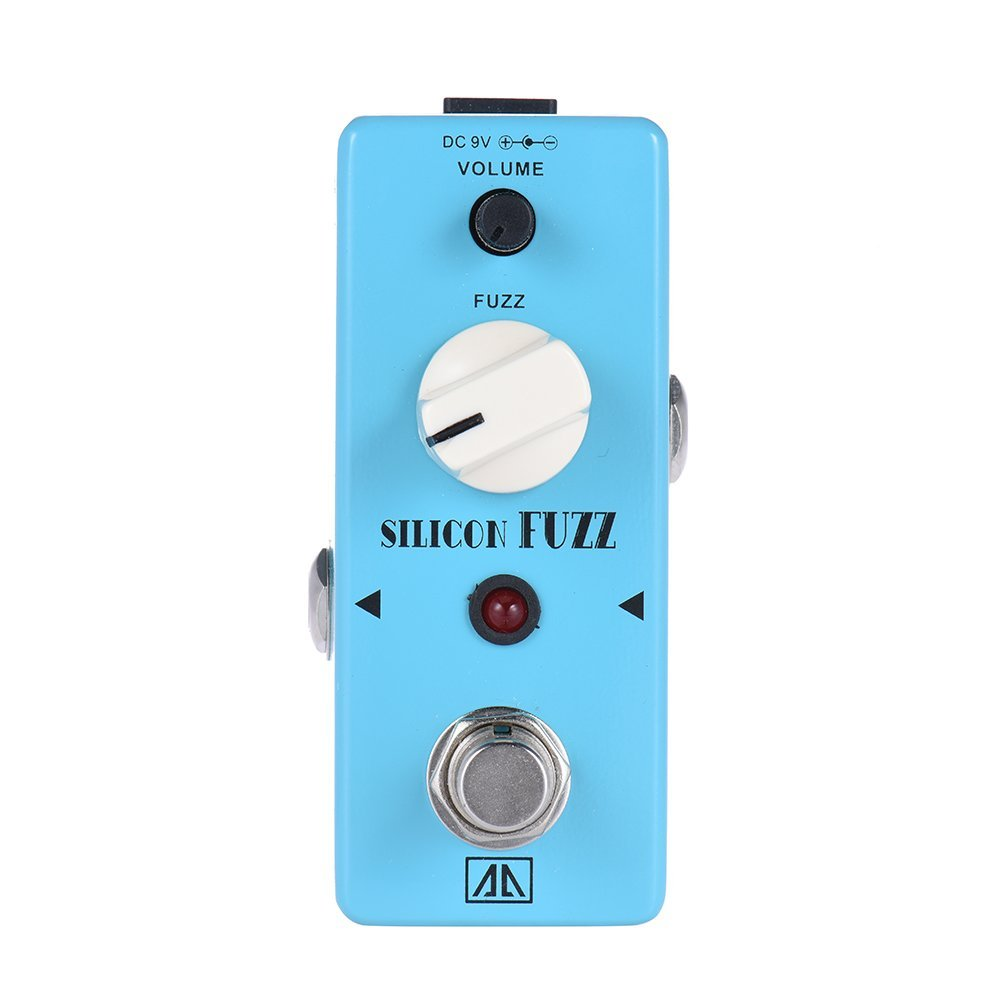 AROMA ASF-5 Fuzz Guitar Pedal Classic Silicone Transistor Guitar Effect Pedal True Bypass Guitar Parts & Accessories aroma aeg 3 gt eqanalogue 5 band equalizer guitar effect pedal mini volume with true bypass volume control guitar parts