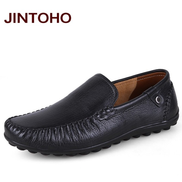 jintoho big size 38 47 mens genuine leather formal shoes luxury