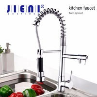 US Stock Single Lever Kitchen Faucet With Mixer Hot And Cold Water Tap Pull Down Kitchen