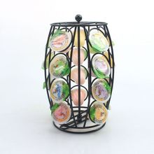 Creative 360 degree rotating coffee capsule storage rack desktop desktop storage rack coffee display rack can hold 20 tablets