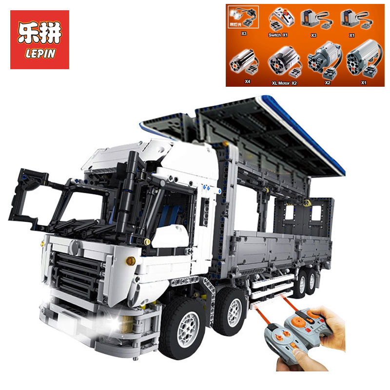 все цены на New LEPIN 23008 technic series 4380pcs MOC truck Model Building blocks Bricks Toys for Children brithday gifts LegoINGlys 1389