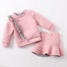 Девушки одежда набор новый осень девушки одеваются пространство хлопка свитер пальто 2 ШТ. + юбка балетной пачки девушки одежда