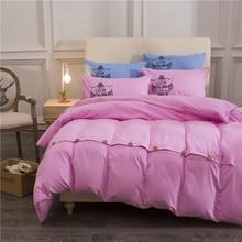 Pink Color Button Decoration Pattern Bedding Set Duvet Cover Sets Soft Bed Linen Flat Bed Sheet Set Pillowcase Bed Cover Housse