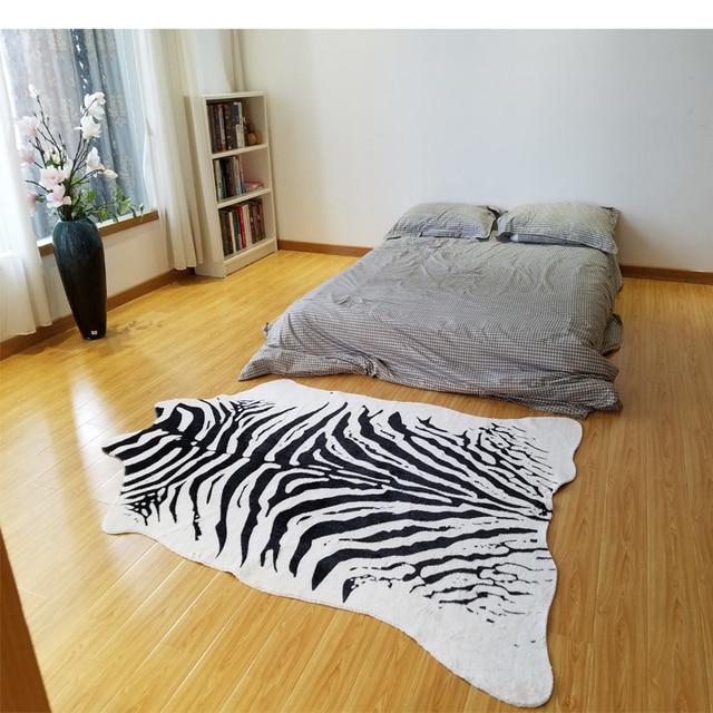 zbre imprim tapis animal faux peau peau de vache tapis grande taille 2x14 m - Tapis Grande Taille