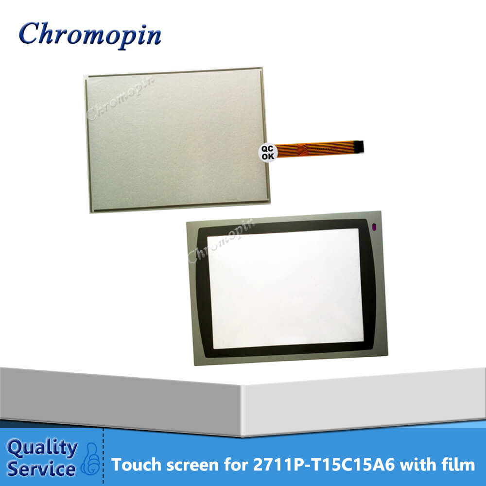 Touch Screen Panel Digitizer for AB Panel View Plus 1500 2711P-T15C15A6 2711P-T15C15A7 2711P-T15C4D8 2711P-T15C4A8 with OverlayTouch Screen Panel Digitizer for AB Panel View Plus 1500 2711P-T15C15A6 2711P-T15C15A7 2711P-T15C4D8 2711P-T15C4A8 with Overlay