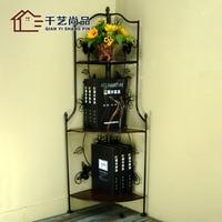 Wrought iron hanging shelf bathroom towel rack bathroom storage rack rack shelf cosmetics special offer